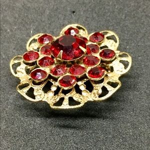 Vintage 1950's-60's Gold Czech Brooch